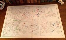 Original Antique Civil War Folio Map BATTLE MANASSAS Cedar Mountain VA Virginia