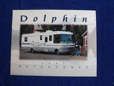 DOLPHIN MOTOR HOMES RV SALES BROCHURE 1997 FLOOR PLANS FEATURES SPECIFICATIONS