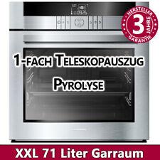 Einbau Backofen Pyrolyse Selbstreinigung Edelstahl autark Elektro Herd Heissluft