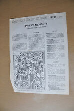 Philips N2206 N2207 N2208 cassette recorder Service Data Sheet Vintage manual