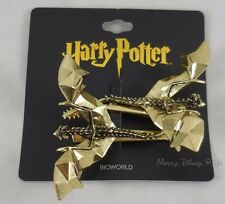 New Harry Potter 3D Hungarian Horntail Dragon Metal Hair Clip Set 2