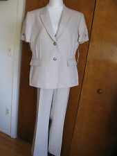 Tahari by ASL Beige Sand Women's Size 16p Petite Pant Suit Set #307