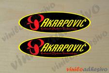PEGATINA STICKER VINILO Akrapovic ref4 ovalado  exhaust autocollant aufkleber