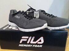 NEW Men's Fila Memory Refractive Memory Foam GREY Running Athletic Shoes 8.5 NIB