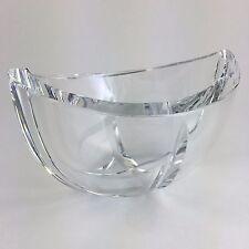 Kosta Boda Crystal Bowl Signed Goran Warff Art Glass Sweden Numbered Vintage