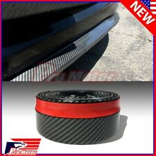 Universal Carbon Fiber Pattern Splitter Side Chin Roll Skirt Rubber Bumper Lip P