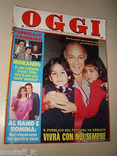 OGGI=1987/7=CLAUDIO VILLA=ROMINA POWER=FESTIVAL SANREMO=ALESSANDRO BLASETTI=