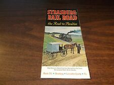 1971 STRASBURG RAIL ROAD TIMETABLE AND BROCHURE