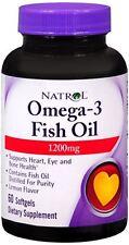 Natrol Omega-3 Fish Oil 1200 mg Softgels 60 Soft Gels