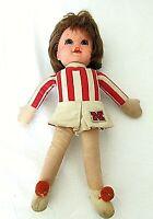 Vintage Mattel Nebraska Huskers Cornhuskers Talking Doll 1970 Cheerleader Rare