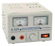 MERCURY 650.673 regolamentato alimentatore variabile output TENSIONE 0-20v / 2A MAX NUOVO