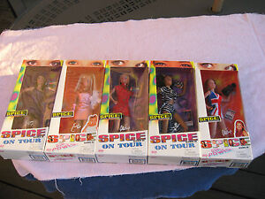 Lot of 5 Vintage 1997/98 Spice Girls on Tour & Girl Power by Galoob