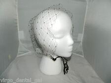 Vintage Dark Brown Netting Tulle Head Covering