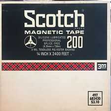 "Scotch 3M Recording Magnetic Tape 200 Double Length 1/4"" x 2400 Ft  7"" Reel USED"