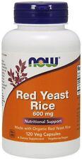 Red Rice Yeast 600mg 120 Vegetarian Capsules NOW Foods