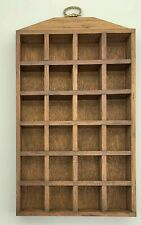 Wooden Thimble Display Case Rack Holds 24 Thimbles - Wall Mountable