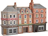 Metcalfe PN972 N Gauge Low Relief Pub & Shops Kit