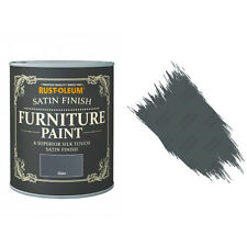 Rust-Oleum Slate Satin Chalky Chalk Furniture Paint Vintage Shabby Chic 750ml