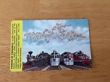 Burlington Route Pocket 1965 Calendar/ Ruler Train Images Parade Of Progress