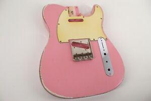 MJT Official Custom Vintage Age Nitro Guitar Body By Mark Jenny VTT Shell Pink