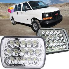 Pair Sealed Beam square LED Headlights Lamp for GMC Savana 3500 Yukon  Sonoma