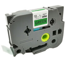 Black on Green TZ-741 TZe-741 Label Maker Tape P-Touch Brother Compatible 18mm
