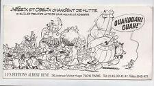 Astérix - carte changement d'adresse des éditions Albert René. RARE