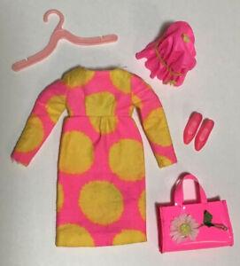 Vtg Francie Dress #1277 Sun Spots Mod Mattel 1967 Barbie