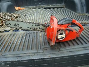 """Vintage Jonsered M361 Automatic Chain Saw With 14"""" Bar & Chain- Good Condition"""