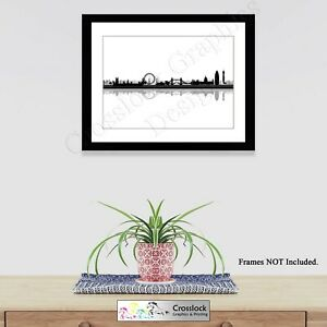 City of London Skyline Silhouette Photo Poster Picture Print ONLY Wall Art A4