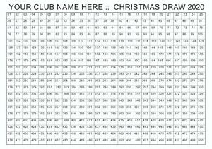 Fundraising - A3 Poster - Christmas Raffle Poster with 500 Spaces