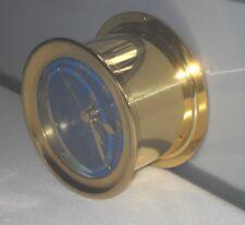 VINTAGE BOAT U.S. MARINE QUARTZ BRASS SHIPS WALL CLOCK BLUE DIAL