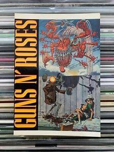 guns 'n' roses - cartolina postcard - perfetta serie rock n roll n°211