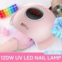 72W LED USB Manicure Nail Dryer UV Lamp Nail Gel Polish Pedicure Curing Light US