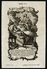 santino incisione 1700 B.GIOVANNA DA ORVIETO klauber