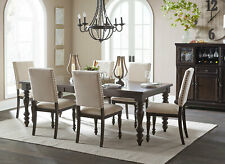 Traditional Dining Room Furniture 7pcs Gray Rectangular Table & Chairs Set Ic56