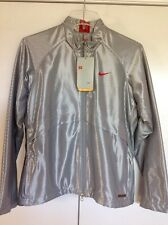 NWT New $350 Rare Vintage Silver Metallic reflective Red womens NIKE Jacket M