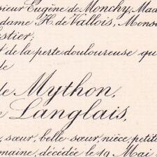 Marie Reine Langlais Paul De Mython D'Harcelines 1891