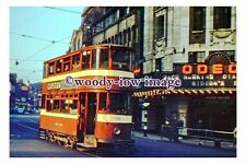 gw0076 - Leeds Tram 155 to Roundhay at Headrow in 1958 - photograph