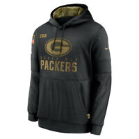 New Green Bay Packers Nike 2020 Salute to Service Sideline Performance Hoodie