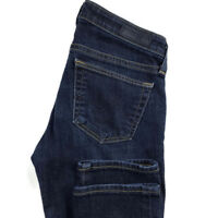AG Adriano Goldschmied Womens 24 The Stilt Cigarette Leg Dark Blue Stretch Jeans