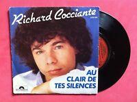 Vinyle, RICHARD COCCIANTE, 45 Tours VINTAGE, AU CLEIR DE TES SILENCES...