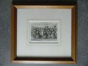 Mill Green Essex Men Running in Sacks, Rural Sports. Sam Howitt 1799 Engraving