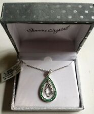 """Fine Silver Plated Genuine Crystal Pendant w/ 18"""" Chain from Kohl's - New in Box"""