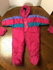 VINTAGE BABY B'GOSH PINK INFANT 1-PC HOODED BABY SNOWSUIT SIZE 12 MONTH