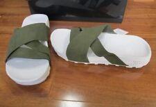 J. NEW Nike Taupo Slide Sandals MENS Sz 6 Rough Green/White 849756 310 $100
