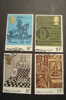 GB 1976 Commemorative Stamps~Caxton~Fine Used Set~ex fdc~UK Seller