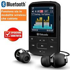 ✅ PLAYER LETTORE MP3 BLUETOOTH RICARICABILE MP4 AUDIO RADIO FM MUSICALE + CUFFIE