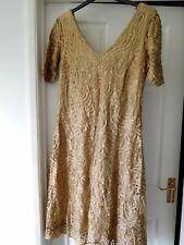 BNWT - ANN HARVEY DRESS SIZE 18 - GOLD - WEDDING - PARTY - SPECIAL OCCASION £175