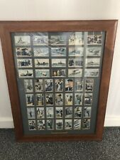 More details for the navy 1937  - gallaher ltd cigarette cards framed - private collection -